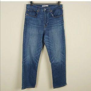 Levis Wedgie Straight High Rise Crop Jean 30